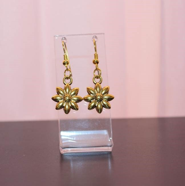 price of Daisy Gold earrings on ShopHub | ecommerce, price check, start a business, sell online