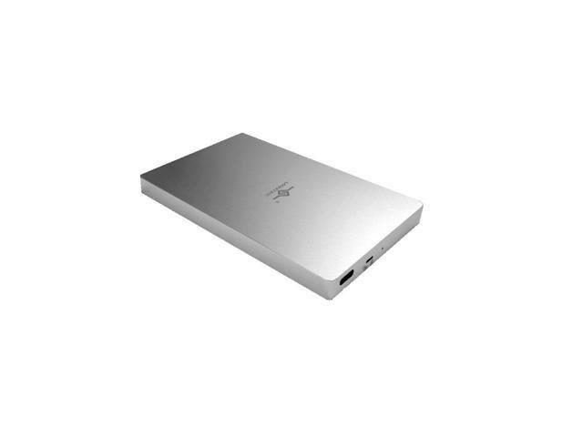 VANTEC NST-204C3-SV USB TYPE C 2.5INCH SATA3 HDD & SSD ENCLOSURE WITH WRITE PROTECT SWITCH - ALUMINIUM
