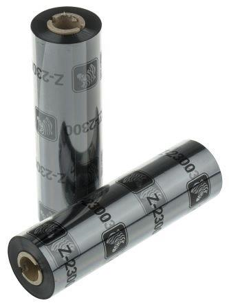 Zebra Original Wax Ribbon; 110mmx450m; 2300; Standard; 25mm core for ZT Series