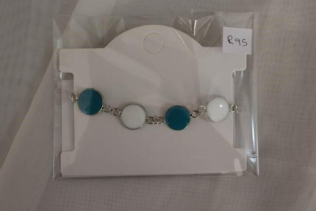 price of Bracelet teal & white   on ShopHub | ecommerce, price check, start a business, sell online