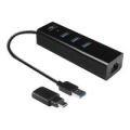 Vantec VLink USB 3.0 3-Port Hub With Gigabit Ethernet Adapter